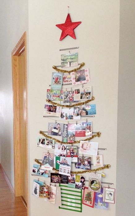Como hacer tarjetas de navidad con material reciclado