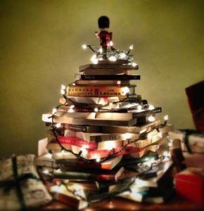 Tradiciones navideñas para los niños - libros en forma de arbolito de navidad