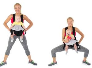 ejercitarnos con nuestro bebé - Pliet Squat