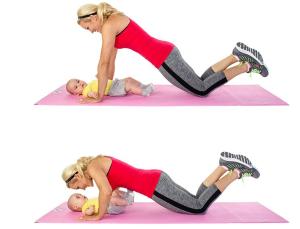 ejercitarnos con nuestro bebé - Push-ups
