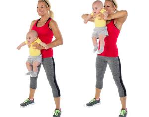 ejercitarnos con nuestro bebé - Upright Row