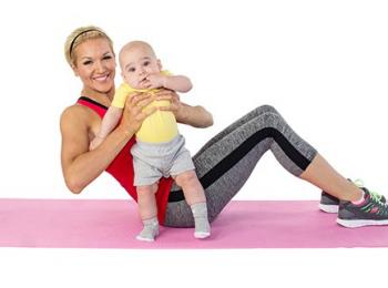 6 movimientos para ejercitarnos con nuestro bebé