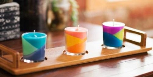 reutilizando crayola para hacer velas de colores