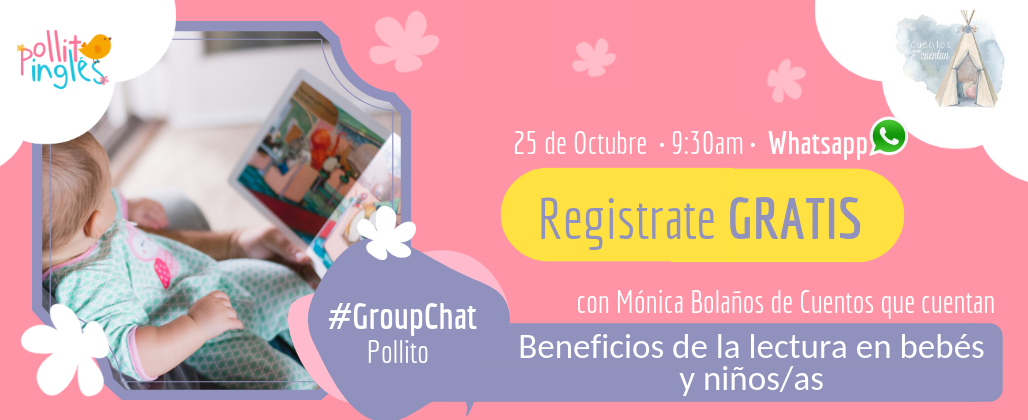 GroupChat Beneficio de la lectura en bebes y niños/as